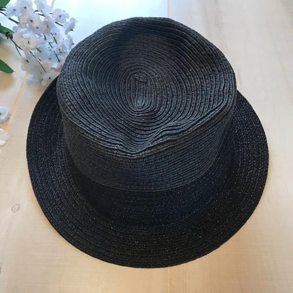 62c76b1dbd47 GAP Accessories   Color Block Metallic Fedora Black Casual Hat ...